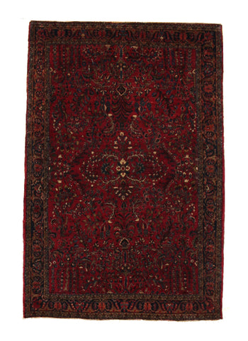 Deep Red Antique Persian Sarouk