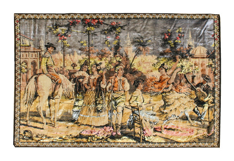 Vintage Tapestry With Mexican Scene