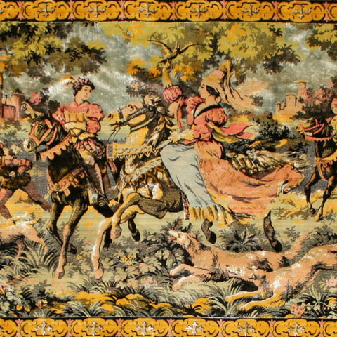 Vintage Art Silk French Tapestry