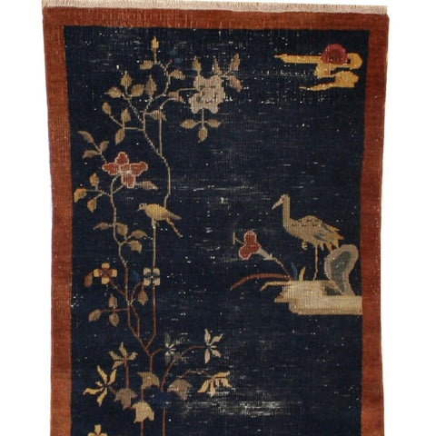 Antique Scenic Chinese Rug