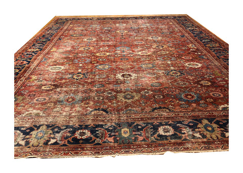 Oversize Antique Heriz Rug