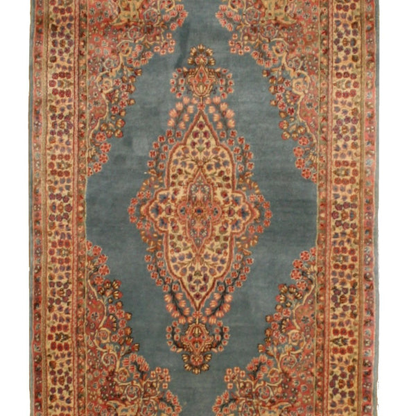 Pale Blue Vintage Persian Kerman