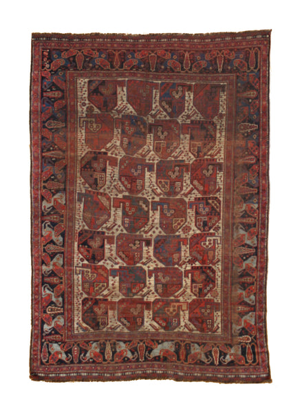 "Antique Khamseh ""Bird"" Rug"