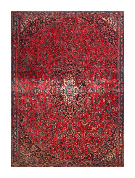 Room-Size Semi Antique Persian Kazvin