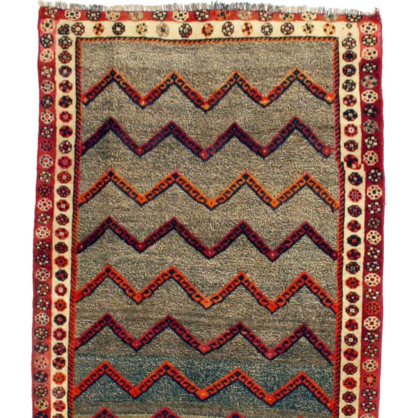 Persian Gabbeh with Mod Geometric Pattern