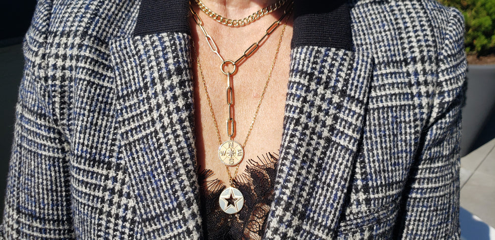 Chunky Gold chain link necklaces Are Fall's biggest jewelry trend | shop jonayor.com