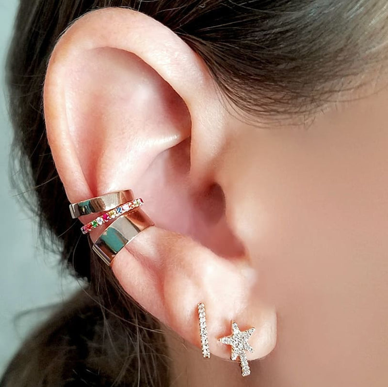 Rainbow Ear Cuff - Designer Earrings - The EarStylist by Jo Nayor