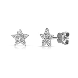 Small Diamond Pave Star Stud Earring - Designer Earrings - The EarStylist by Jo Nayor
