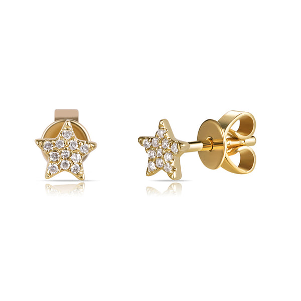 Mini Diamond Pave Star Stud Earring - Designer Earrings - The EarStylist by Jo Nayor