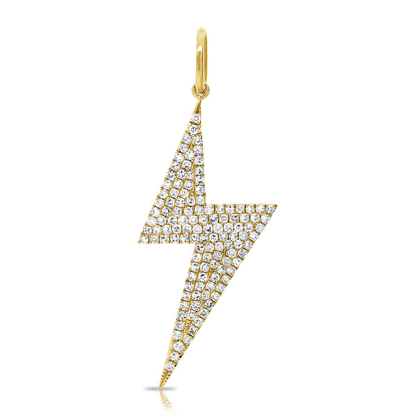 Large Diamond Lightning Bolt Charm - Designer Earrings - The EarStylist by Jo Nayor