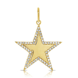 Diamond Border Star Charm - Designer Earrings - The EarStylist by Jo Nayor