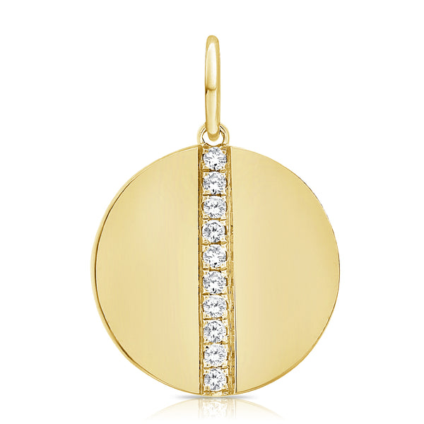 Diamond Seamed Medallion - Designer Earrings - The EarStylist by Jo Nayor
