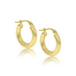Small 14K Gold Chunky Hoops - Designer Earrings - The EarStylist