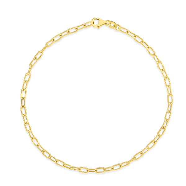 Baby Oval Link Anklet - Designer Earrings - The EarStylist by Jo Nayor