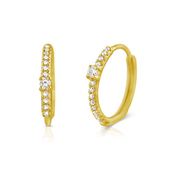 Diamond Ballerina Hoop Earrings - Designer Earrings - The EarStylist by Jo Nayor