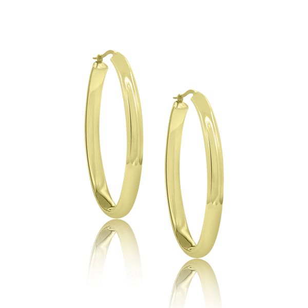 14K Gold Becket Hoop Earrings - Designer Earrings - The EarStylist