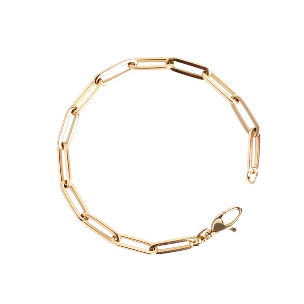 14K Gold Colossal Link Bracelet - Designer Earrings - The EarStylist by Jo Nayor
