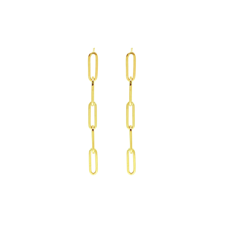 Colossal Link Drop Earrings - Designer Earrings - The EarStylist by Jo Nayor