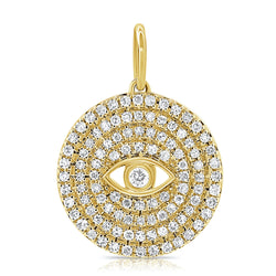 Diamond Evil Eye Coin