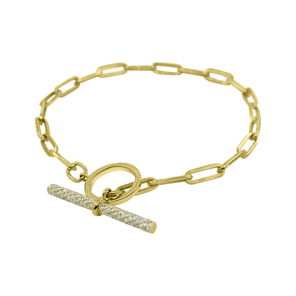 Diamond Toggle Link Bracelet - Designer Bracelet - Jo Nayor Designs