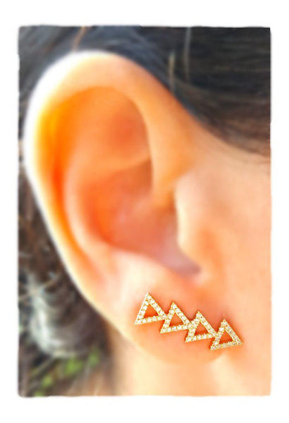 Diamond Arrow Climber Earring - The EarStylist by Jo Nayor - 2
