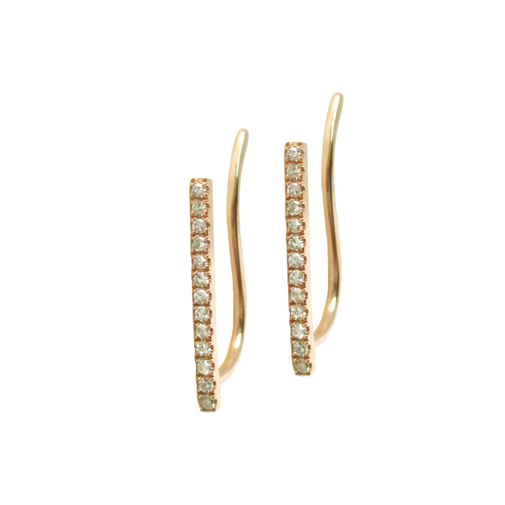 Diamond Bar Climber Earring - Designer Earrings - The EarStylist by Jo Nayor