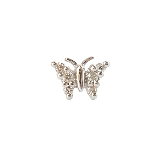 Diamond Butterfly - Designer Earrings - The EarStylist by Jo Nayor
