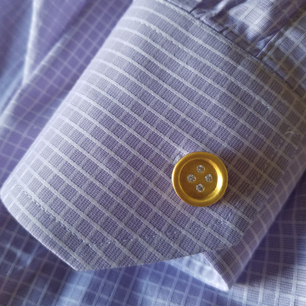 Diamond Button Cufflinks - Designer Earrings - The EarStylist by Jo Nayor