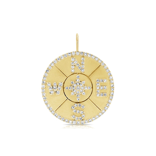 Diamond Compass Charm - Designer Earrings - The EarStylist by Jo Nayor