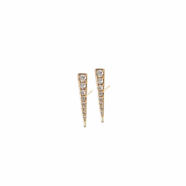Diamond Spike Earring - Designer Earrings - The EarStylist by Jo Nayor