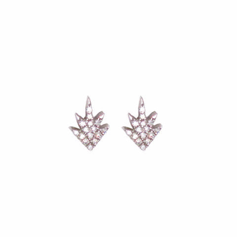 Diamond Starburst Stud Earring - Designer Earrings - The EarStylist by Jo Nayor