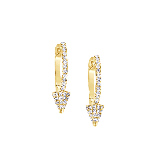 Mini Diamond Spike Hoop Earrings - Designer Earrings - The EarStylist by Jo Nayor