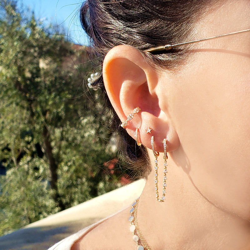 Cleo Ear Cuff - Designer Earrings - The EarStylist by Jo Nayor