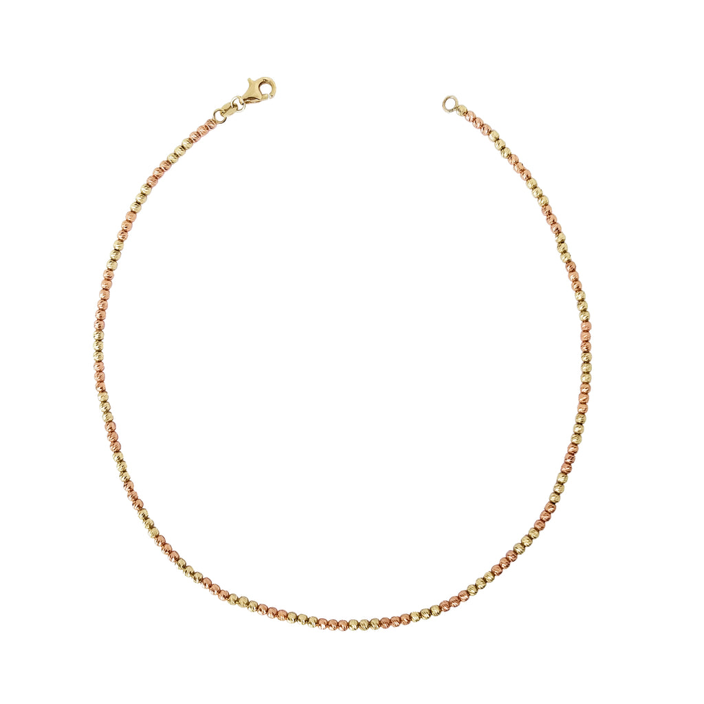 14K Gold Disco Bead Choker Necklace - Designer Earrings - The EarStylist by Jo Nayor