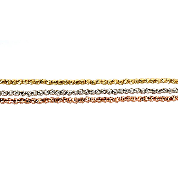 Solid 14K Gold Disco Bead Necklace - The Ear Stylist by Jo Nayor