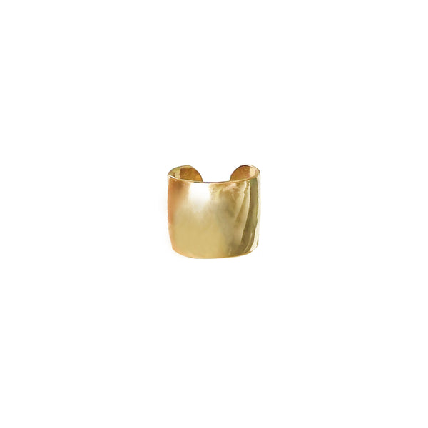 Extra Wide Solid Gold Ear Cuff - The Ear Stylist by Jo Nayor