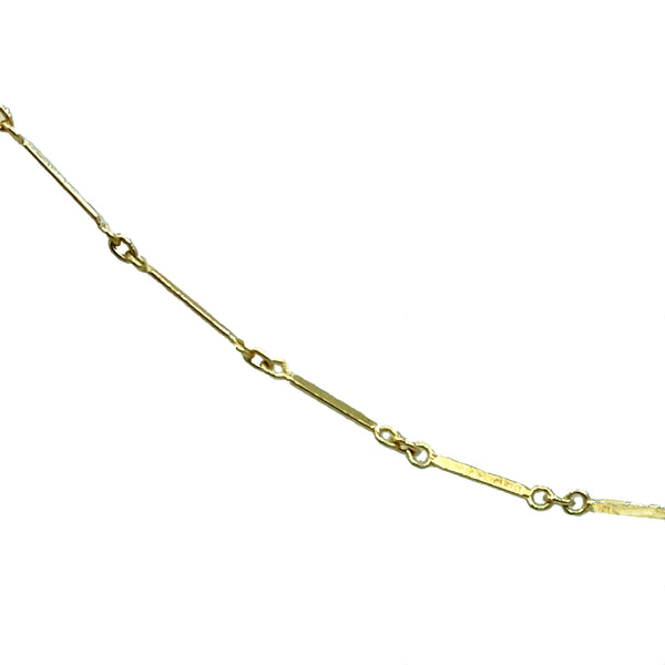 Gold Bar Anklet - Designer Earrings - The EarStylist by Jo Nayor