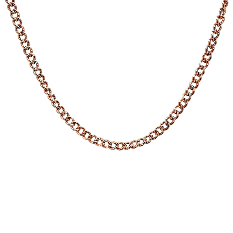 14K Gold Curb Link Chain Necklace - Designer Earrings - The EarStylist by Jo Nayor