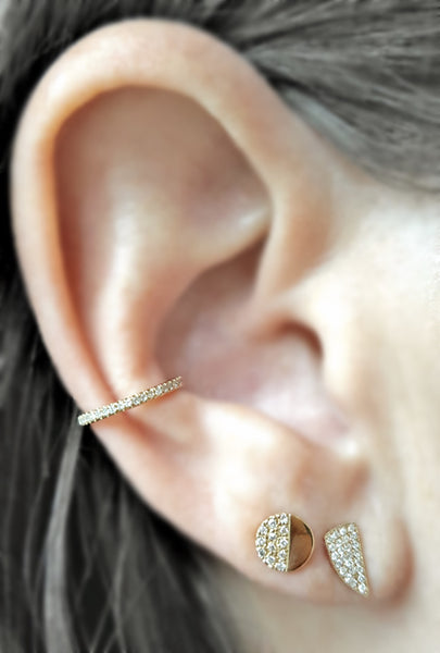 Mini Horn Stud Earring - The EarStylist by Jo Nayor - 2