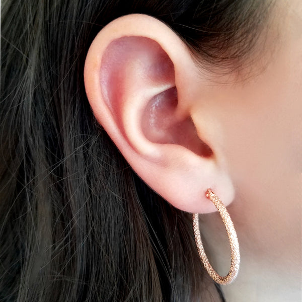14K Gold Laser Cut Hoops - Designer Earrings - The EarStylist by Jo Nayor
