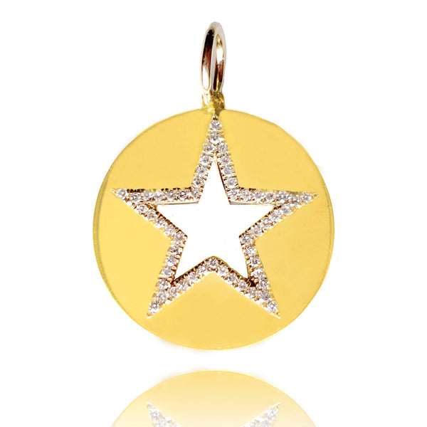 Diamond Star Medallion - Designer Earrings - The EarStylist by Jo Nayor