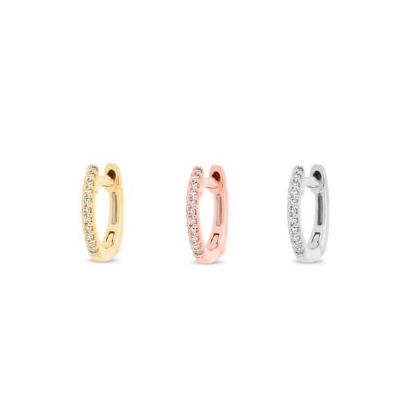 Triple Mini Diamond Hoop Box - Designer Earrings - The EarStylist by Jo Nayor