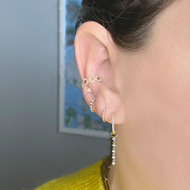 Diamond Halo Ear Cuff - Designer Earrings - The EarStylist by Jo Nayor