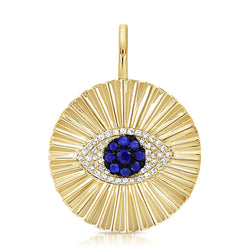 Evil Eye Radiance Charm - Designer Earrings - The EarStylist by Jo Nayor