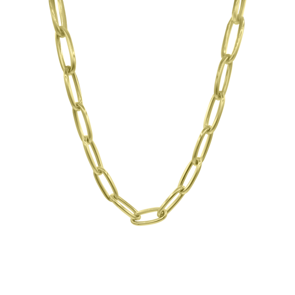 Jumbo 14K Gold Oval Link Necklace - Designer Necklaces - Jo Nayor