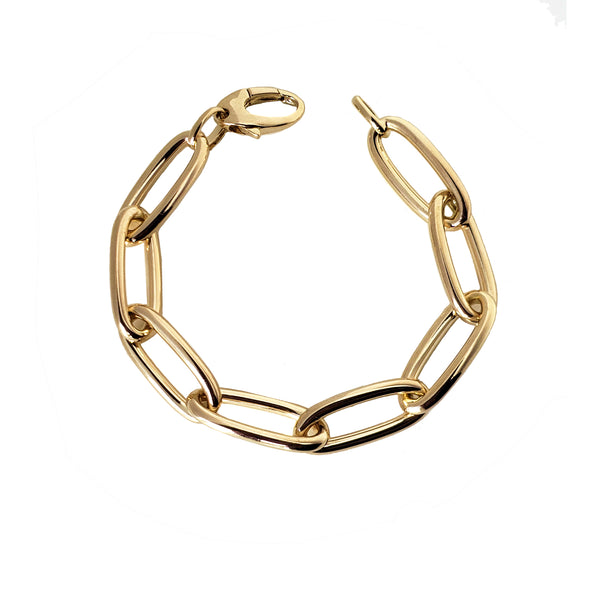 Jumbo Oval Link Bracelet - Designer Earrings - The EarStylist by Jo Nayor