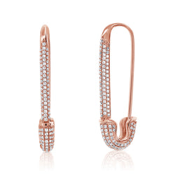 Jumbo Diamond Safety Pin Earring - Designer Earrings - The EarStylist by Jo Nayor