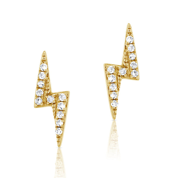 Diamond Lightning Bolt Stud Earring - The Ear Stylist by Jo Nayor