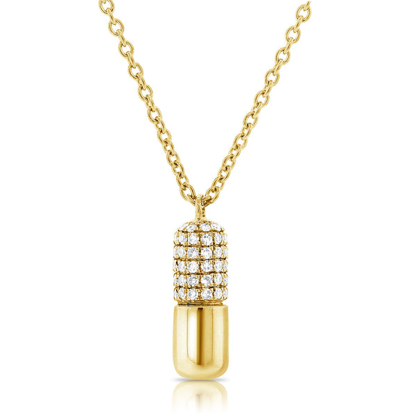 Diamond Chill Pill Necklace - Designer Earrings - The EarStylist by Jo Nayor