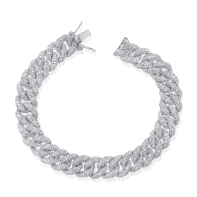 Diamond Chunky Link Bracelet - Designer Earrings - The EarStylist by Jo Nayor